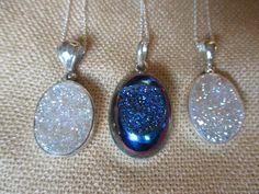 Great deals on sterling silver druzy pendant necklaces!  www.specialadesigns.com