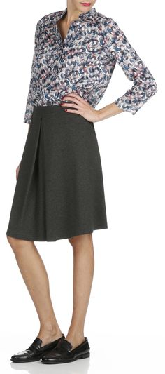 Jupe en jersey Gris by MARC O'POLO Marken Outlet, Marc O Polo, Palette, Trends, Gray, Jersey Skirt, Fall Winter, Womens Fashion, Beautiful Shoes