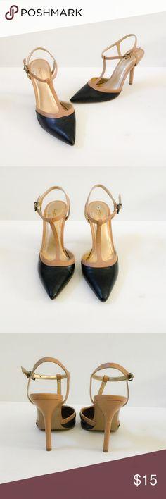 T Strap Heels Navy & Tan T-strap heels. BCBGeneration Shoes Heels