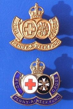 WW2 Red Cross Penny-a-Week Fund - volunteer/participant badges (1940's) | Flickr - Photo Sharing!