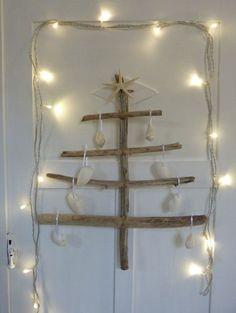 rustic driftwood christmas tree / jewellery by beachcomberhome, $40.00