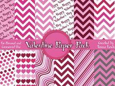 Valentine Digital Paper Pack   by Teresa Lewis   $Free