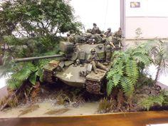 Vietnam diorama containing very well done jungle foliage