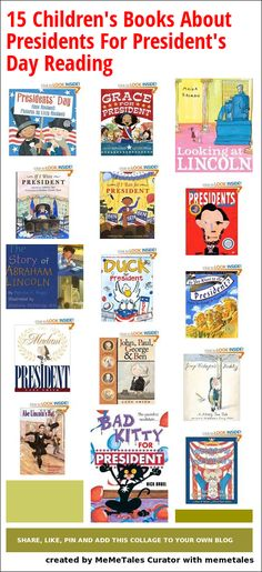 Children's Books about Presidents - perfect for President's Day reading