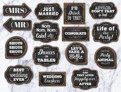 30 Wedding Photo Booth Props Printable by DanasDesignStudio Funny Wedding Speeches, Funny Wedding Photos, Photobooth Props Printable, Team Groom, Wedding Photo Booth Props, Photo Props, Best Man Wedding, Party Wedding, Best Man Speech