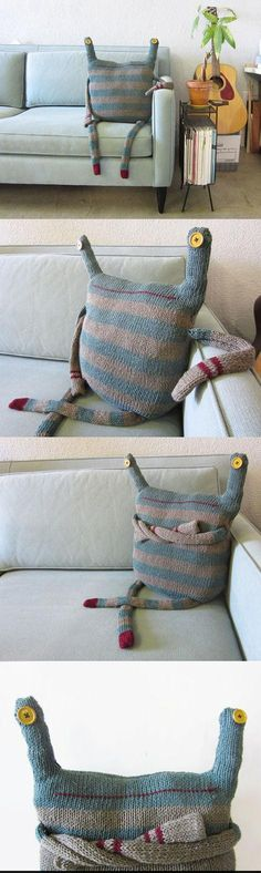 Funny pictures about Monster doll made up with old clothes. Oh, and cool pics about Monster doll made up with old clothes. Also, Monster doll made up with old clothes. Sewing Crafts, Sewing Projects, Diy Projects, Diy Crafts, Fabric Crafts, Monster Dolls, Old Clothes, Sewing Clothes, Art Dolls