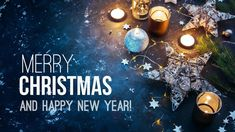 Stock Image: Backgrounds/Textures christmas background with festive decoration and text - merry christmas and happy new year. Merry Christmas Wallpaper, Merry Christmas Photos, Christmas Star, Merry Christmas And Happy New Year, Christmas Themes, Christmas Gifts, Happy New Year Images, Happy New Year Cards, Happy New Year Wishes