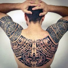 Back And Shoulders Guys Maori Tattoo Inspiration