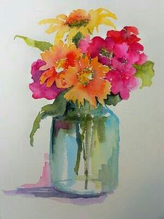 25 Beautiful Watercolor Flower Painting Ideas & Inspiration Painting with watercolors can be difficult. Luckily, here's a list of 25 Beautiful Watercolor Flower Painting Ideas and Inspiration. Easy Watercolor, Watercolor Cards, Watercolour Painting, Painting & Drawing, Watercolors, Flower Watercolor, Watercolor Pictures, Watercolor Artists, Painting Lessons