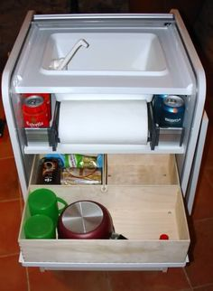 Console for camping toilet vw t6 california pinterest shops toilets and products - Mueble fregadero ikea ...