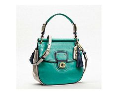 Coach, colorblock Willis bag.  LOVE this colour but also ...