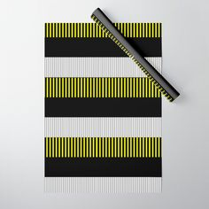 Colour Pop Stripes - Yellow Wrapping Paper by laec Colour Pop, Color, Double Stick Tape, Wraps, Gift Wrapping, Stripes, Yellow, Paper, Gift Wrapping Paper
