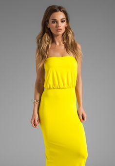 aa4ab02087 Shop for Susana Monaco Light Supplex Blouson Tube Dress in Yellowtail at  REVOLVE.
