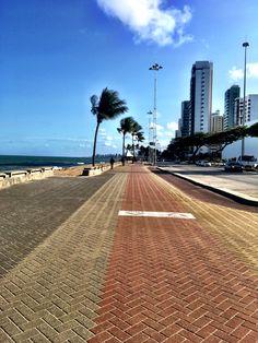 #Caminhando no Calçadão da Avenida Boa Viagem, Recife, Pernambuco ⏰ 16:09 - 03/03/2017