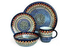 Polish Pottery Blue Horizon 16 Piece...    $489.00