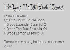 Purifying Toilet Bowl Cleaner: Young Living Essential Oils | www.naturesEZreme... | Lisa Krznarich, RN | Young Living Independent Distributor & Educator | Purchase here: www.youngliving.c... | www.facebook.com...