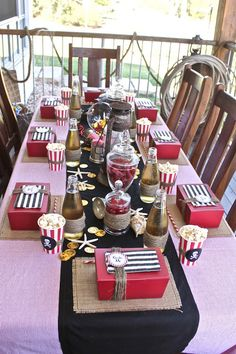Great overall decorations.....Captain Hook Pirate Party! - Kara's Party Ideas - The Place for All Things Party
