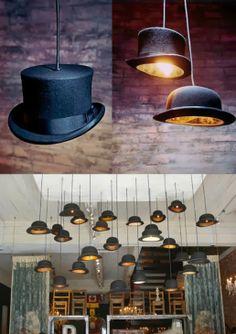 Only Handmade loves : DIY: maak je eigen hoeden lamp!