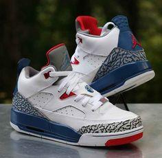 best service a4d1c 81238 Nike Air Jordan Son of Mars Low White True Blue 580604-106 Kids Size 6.5Y
