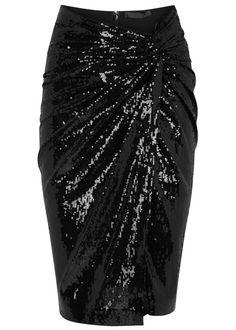 Donna Karan New York black tulle skirt