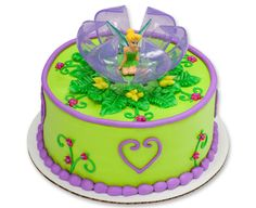 How-To Make a Disney Fairies Tinker Bell in a Flower Cake