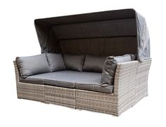 Lounge sofa garten grau  Sonneninsel, Polyrattan Garten Lounge, Chill-Out Sofa mit ...