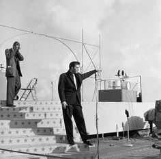 The Milton Berle Show, when broadcast from the deck of the USS Hancock in San Diego - Apr. 3, 1956  Photo courtesy NBCUniversal Archives