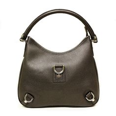 Gucci D Ring Brown Leather Hobo Bag, Medium