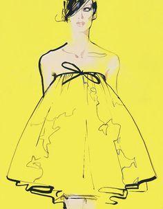 Fashion Illustration for Giambattista Valli by David Downton.
