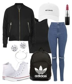 """Untitled #51"" by goodgurl-fen on Polyvore featuring Topshop, adidas Originals, MAC Cosmetics, Converse, Kenneth Jay Lane, Forever 21, women's clothing, women, female and woman"