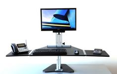 Desktop-risers are an affordable, quick and easy alternative to full-fledged height adjustable desks. The Kangaroo Pro is amongst the top contenders, and for a good reason!  Check out the Kangaroo Sit Stand Desk Below!  http://exerciseatthedesk.com/kangaroo-sit-stand-desk-review