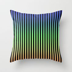 Vertical Stripes - Tricolor Throw Pillow by Lyle Hatch -  20.00 624c8bef452