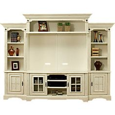 Mountain Bluff White 5 Pc Wall Unit Entertainment Center Wall Unit Entertainment Wall Units Entertainment Center
