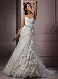 Gorgeous Sweetheart A-line Chapel Train bridal gowns,red wedding dresses,red wedding dresses,red wedding dresses