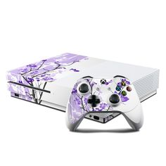 Microsoft Xbox One S Console and Controller Kit Skin - Violet Tranquility by DecalGirl Collective