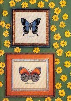 Punto de Cruz GRATIS: Preciosas Mariposas