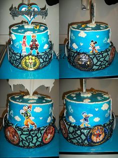 Kingdom Heart's cake i would be so torn whether to eat or not to eat!