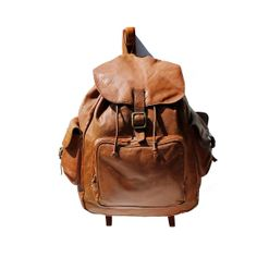 Tampico Brown Leather Backpack