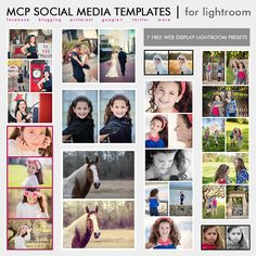 Free social media templates for Lightroom.  Makes formatting images for Facebook and Pinterest easy!