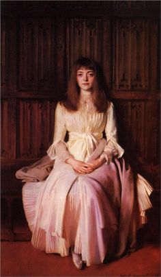 Miss Elsie Palmer Artist: John Singer Sargent Start Date: 1889 Completion Date:1890 Style: Realism Genre: portrait Technique: oil Material: canvas Dimensions: 190.5 x 114.3 cm Gallery: Colorado Springs Fine Arts Center (Colorado, United States)