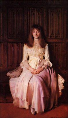 Miss Elsie Palmer Artist: John Singer Sargent Start Date: 1889 Completion Date:1890 Style: Realism Genre: portrait Technique: oil Material: canvas Dimensions: 190.5 x 114.3 cm Gallery: Colorado Springs Fine Arts Center (Colorado, United States)