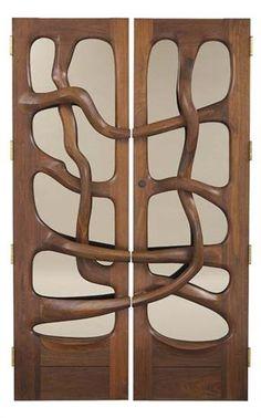 WENDELL CASTLE  Rare pair of doors, 1976