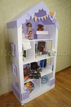 стеллаж-домик, детский стеллаж, детская мебель, идеи для детской, оформление детской. DollHouse Bookcase