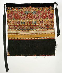 Matyó Wedding Apron - Hungarian Embroidery at the Met Costume Institute