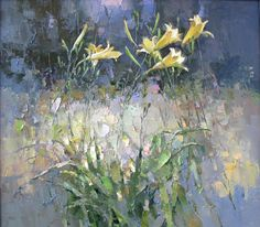 Russian Landscape, Landscape Art, Landscape Paintings, Lily Painting, Painting & Drawing, Floral Artwork, Buy Paintings, Abstract Flowers, Day Lilies