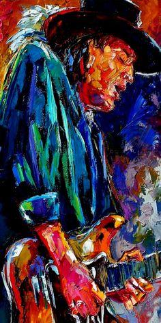 Title Stevie Ray Vaughan Artist Debra Hurd Medium Painting - Oil On Canvas Tableau Pop Art, Digital Foto, Jazz Art, Stevie Ray Vaughan, Music Artwork, Guitar Art, Music Guitar, Blue Art, Rock Art