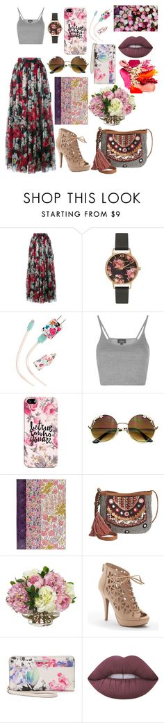 """""""Floral Spring Outfit"""" by kayley2103 ❤ liked on Polyvore featuring Dolce&Gabbana, Olivia Burton, ban.do, Topshop, Casetify, Liberty, American Rag Cie, Diane James, Apt. 9 and Dana Buchman"""