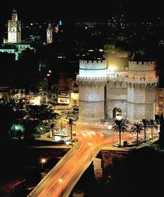 Valencia, Spain -  night view images