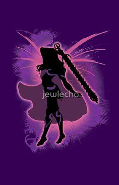 Super Smash Bros. Pink Female Corrin Silhouette