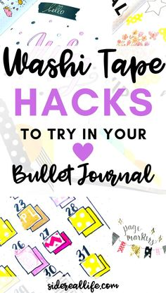 Read my favorite washi tape hacks to try in your own bullet journal! Find out how to use washi tape to decorate and improve your bullet journal to stay organized while planning. Bullet Journal Washi Tape, Bullet Journal Hacks, Bullet Journal How To Start A, Bullet Journal Spread, Bullet Journal Layout, Bullet Journal Inspiration, Bullet Journals, Art Journals, Journal Pages